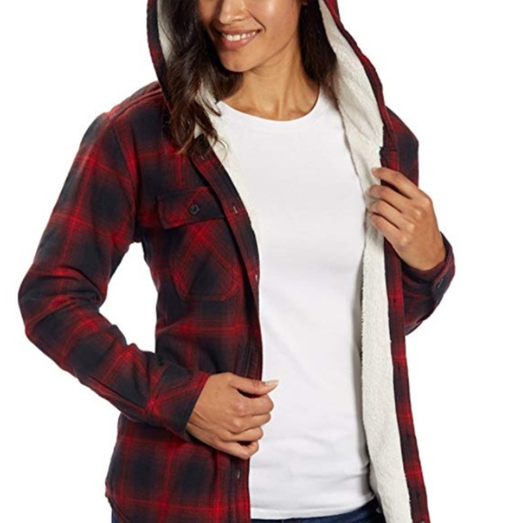 d26ba8548d89 BOSTON TRADERS SHERPA LINED HOODED FLANNEL Shirt